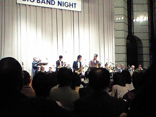 ビッグバンドのコンサートに来ました。